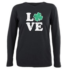 Love St. Pattys Day Plus Size Long Sleeve Tee