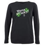 wanna_get_lucky.png Plus Size Long Sleeve Tee