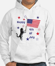 Happy 4th Of July Kitty Hoodie