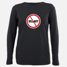 No Hillary Plus Size Long Sleeve Tee