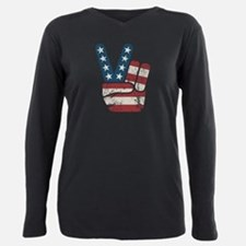 Peace USA Vintage Plus Size Long Sleeve Tee