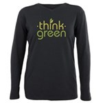 Think Green [text] Plus Size Long Sleeve Tee