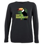 save_rainforest.png Plus Size Long Sleeve Tee