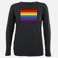 Rainbow Flag Plus Size Long Sleeve Tee