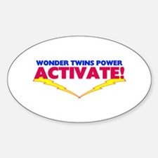 Wonder Twins Oval Decal