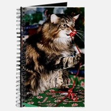 Merry Maine Coon Christmas Journal