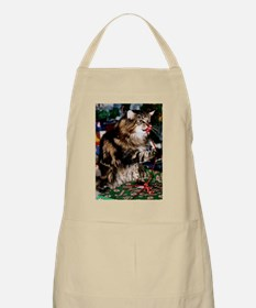 Merry Maine Coon Christmas BBQ Apron