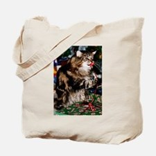 Merry Maine Coon Christmas Tote Bag