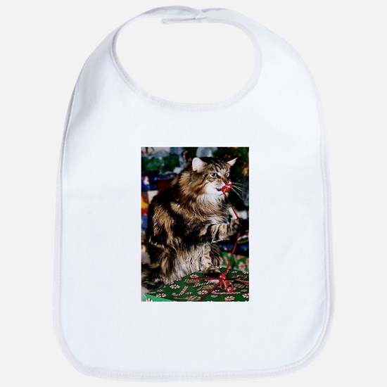 Merry Maine Coon Christmas Bib