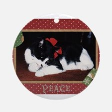 Peace Kitty Ornament (Round)