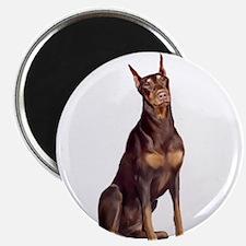 """Red Doberman 2.25"""" Magnet (100 pack)"""