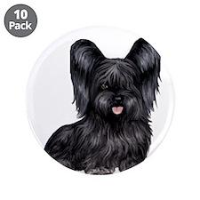 "Skye Terrier - black 3.5"" Button (10 pack)"