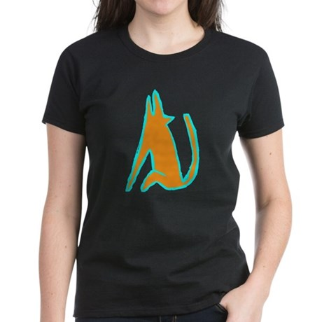 coyote at night Women's Dark T-Shirt