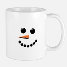 Happy Snowman Face Mugs