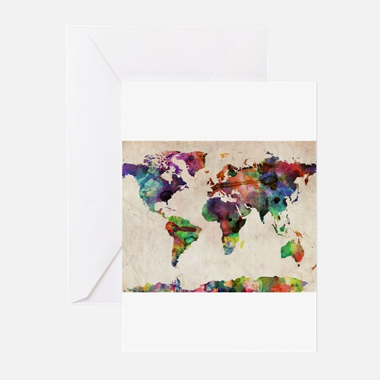 Unique Travel Greeting Cards (Pk of 10)