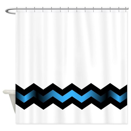 Blue And Yellow Chevron Stripe Shower Curtain By Blue And Yellow Chevron Stripe Shower Curtain