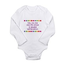 Cute Uncle aunt Long Sleeve Infant Bodysuit
