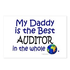 Best Auditor In The World (Daddy) Postcards (Packa