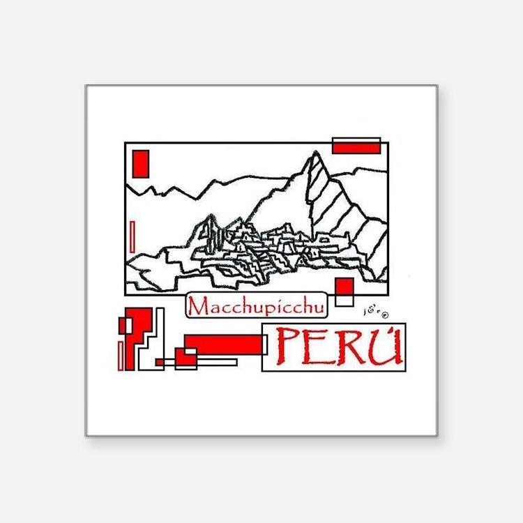 """Cute Peruvian art Square Sticker 3"""" x 3"""""""
