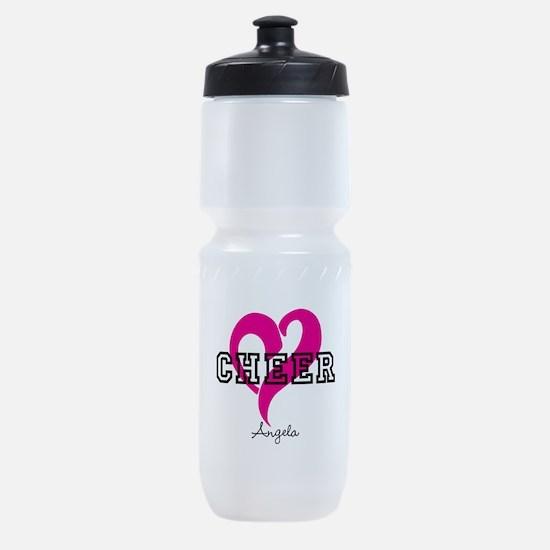Love Cheer Heart Sports Bottle