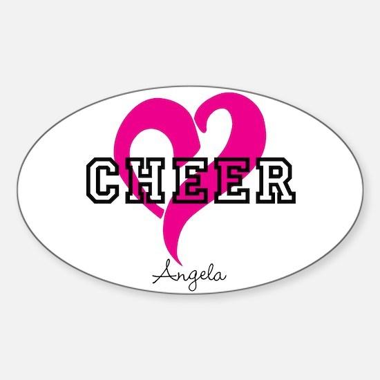 Love Cheer Heart Decal