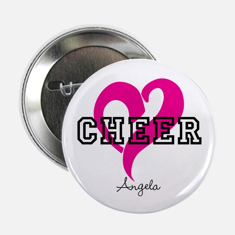 "Love Cheer Heart 2.25"" Button"