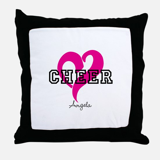 Love Cheer Heart Throw Pillow