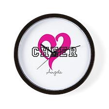 Love Cheer Heart Wall Clock