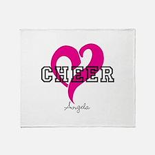 Love Cheer Heart Throw Blanket