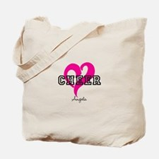 Love Cheer Heart Tote Bag