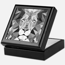 Gray Lion  Keepsake Box
