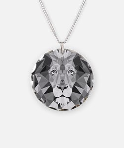 Gray Lion  Necklace
