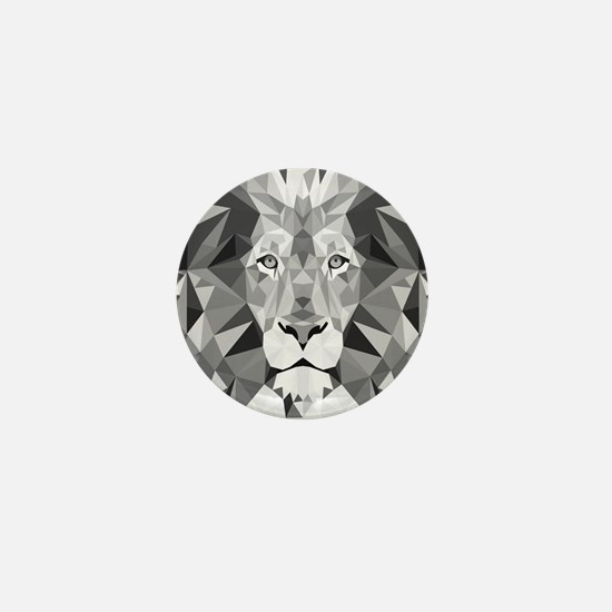 Gray Lion  Mini Button