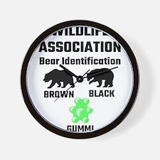 Wildlife Association Bear Identificatio Wall Clock
