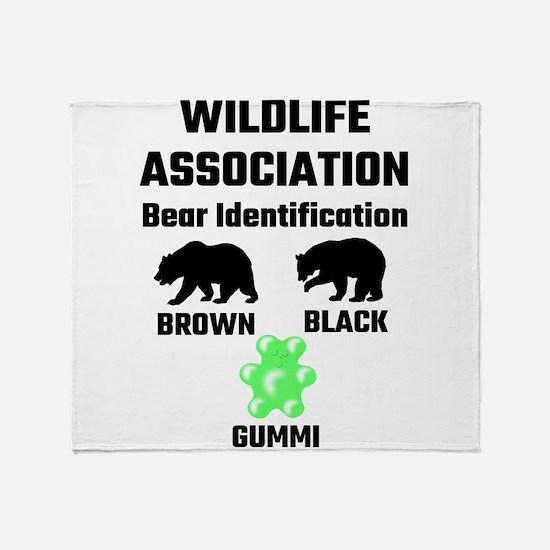 Wildlife Association Bear Identifica Throw Blanket