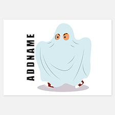 Halloween Ghost Custom Name Invitations