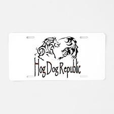 Hog Dog Republic Aluminum License Plate