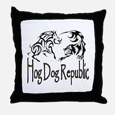 Hog Dog Republic Throw Pillow