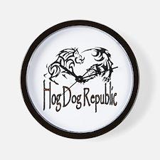 Hog Dog Republic Wall Clock
