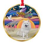 XmasStar/Am Eskimo #1 Round Ornament