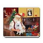 Santa's Eskimo Spitz Mousepad