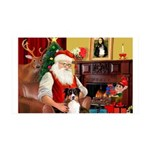 Santa's Aussie 35x21 Wall Decal