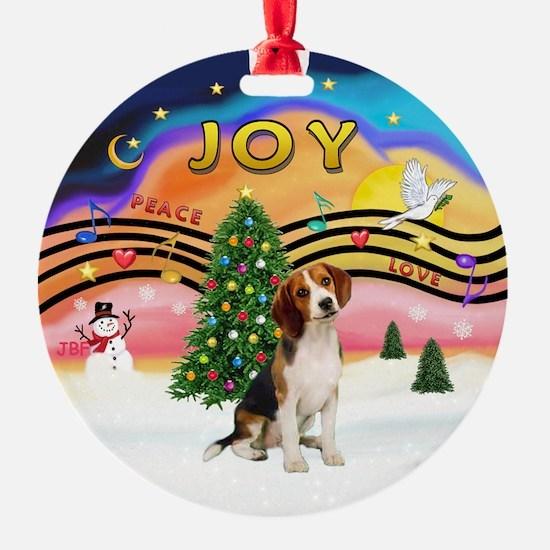XMusic2-Beagle Ornament