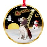 Night Flight/Beagle #2 Round Ornament