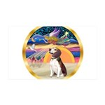 XmasStar/Beagle 2 35x21 Wall Decal