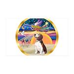 XmasStar/Beagle 2 35x21 Wall Decal