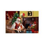 Santa's Beagle 35x21 Wall Decal