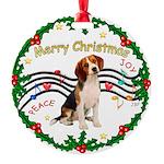 XmasMusic1MC/ Beagle Round Ornament