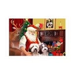 Santa's Beardie 35x21 Wall Decal