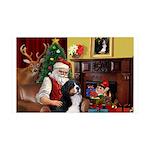 Santa's Bernee 35x21 Wall Decal